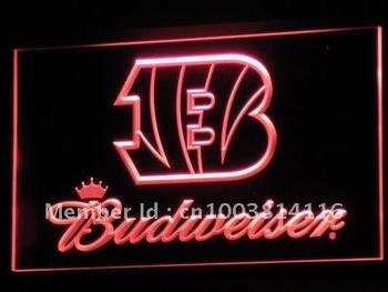 b272-r Cincinnati Bengals Budweiser Neon Light Sign
