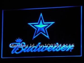 b274-b Dallas Cowboys Budweiser Bar Neon Light Sign