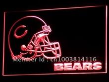 b315-r Chicago Bears Helmet NR Bar Neon Light Signs(China (Mainland))