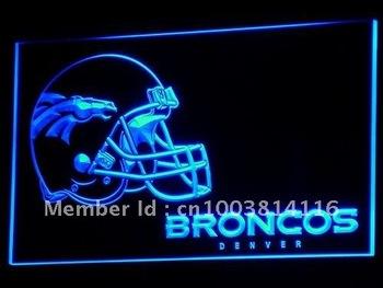 b318-b Denver Broncos Helmet Bar Pub NR Neon Light Sign
