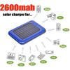 Free Shipping 2600mAh Portable Solar Mobile Charger With LED Flashlight For Mobile Phone iPhone 4 3G/3GS iPod Nokia Blackberry