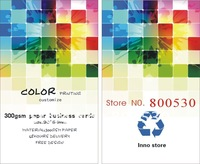 customise free shipping 300gsm paper both side full color printing name cards
