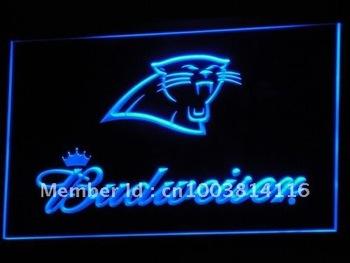 b293-b Carolina Panthers Budweiser Bar Neon Light Signs