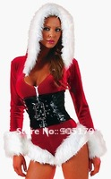 Holiday Romper Lingerie Costume Christmas Costume sexy lingerie cheap dress Free Shipping  LC7129