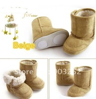 12 pairs/lot-Brown coffee Warm and Cute/Anti-slip Baby Boots/Toddler&Infant's Shoes/Baby Footwear/first walkers/pre-walkers