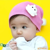 10pcs/lot  Autumn Winter knitted cotton warm Children hat  Baby cap with cartoon animal kids xmas hat 9colors free shipping