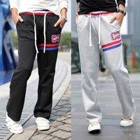 men's pants casual sports pants loose sarrouel pants drawstring trousers & retail M -XXL K02