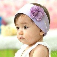 Fashion 5pcs/lot  Cotton big flower  baby headband children hair band for autumn summer  free shipping