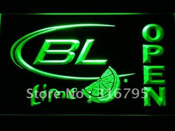 073-g Bud Light Lime OPEN Beer Bar Neon Light Sign