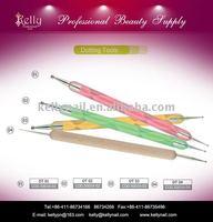 Free Shipping - Wholesale 12pcs/lot 4 Colors Mixed Dual End Nail Art Dotting Pen