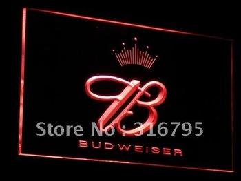 a006-r Budweiser King Beer Bar Pub Club Neon Light Sign