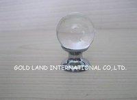20pc/lot Free shipping D25xH37mm glossy crystal glass ball furniture knob/furniture knob/drawer knob