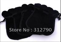 by China Post -- HOT!! jewellery bag,purse hanger bag,velvet bag,black clr,fahsion and pretty!100pcs/lot