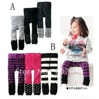 free shipping wholesale 24pcs/lot in 2 pattern children wear children clothing kids wear girl's /boy warm pants