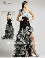one-shoulder formal dress EVD-700