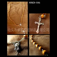 Free shipping plastic rosary necklace /Carpenter Rosary