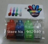 Free shipping 40 pcs(10 bags), LED laser finger/LED toys/ring flashing light/party finger lights cheap