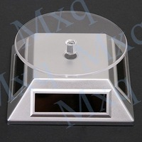 Store Solar Rotating Display Stand Rotary Turn Table Plate For mobile phones,MP4,watches,jewelries,Free Shipping