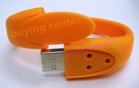 Wholesale-10pcs/lot View All 4GB Bracelet USB Flash Disk+Gift&Free shipping