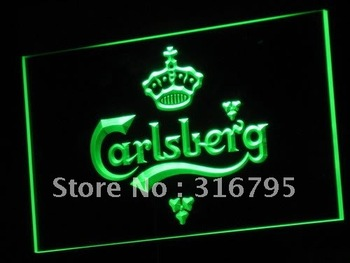 a010-g Carlsberg Beer Bar Pub Displays Neon Light Signs