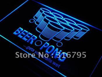 j560-b Beer Pong Gets Your Balls Wet Neon Light Sign