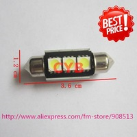 Wholesale 100pcs/lot White Canbus Car LED SMD Festoon Dome Light + Canbus 36mm 3 5050 SMD NO OBC ERROR WHTE,Fast delivery