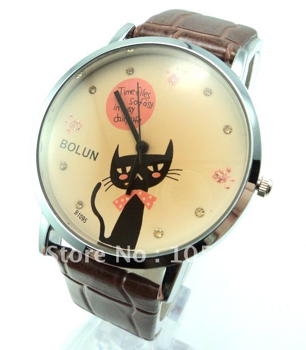 Japan Movement Korean Famous Brand Watch Kimio Stainless Steel Pink Crystal  Watch,6 Colors  #K445