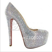 Wholesale - 2011 Brand New Free shipping brand new with crystal Women\'s high heel pumps heel free shipping