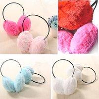 HOT! Autumn Winter Fashion Lady Warm ear cover  plush earmuffs 6 color  Free Shipping