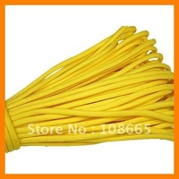 Free Shipping Wholesale 20 pcs/lot 100ft  7 Strand Yellow 550 Survival Safe Rope For Sports And Outdoors