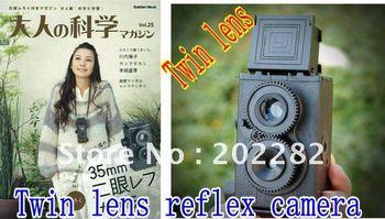 Retail and wholesale 10pcs/lot  DIY 35mm Film Recesky Twin Lens Reflex Camera/Vo.1.25 LOMO camera