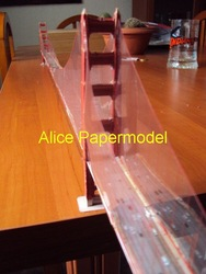 [Alice papermodel] Long 1 meter Los Angeles Golden Gate Bridge skyscraper tall building structure house models(China (Mainland))