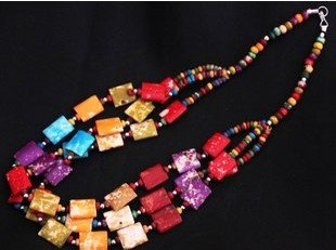 Free shipping. Color pure ox bone necklace, Nepal hand Tibetan decorations. High quality. Cheap wholesale and retail