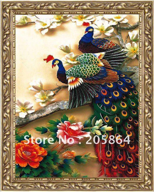 صور الطاوس فلاشية  Free-shipping-font-b-factory-b-font-sell-directly-font-b-gobelin-b-font-beautiful-peacock