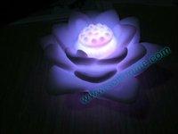 Free shipping wholesale 50pcs/lot LED 7 colors change lotus light+Christmas & Valentine light