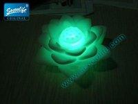 Free shipping wholesale 100pcs/lot LED 7 colors change lotus light+Christmas & Valentine light
