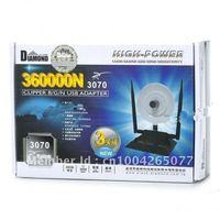 free shipping ! black-Diamond 360000N 3800mW 802.11b/g/n 150Mbps USB 2.0 WiFi Wireless Network Adapter