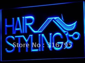 i517-b Hair Styling Salon Cut Shop NEW Neon Light Sign