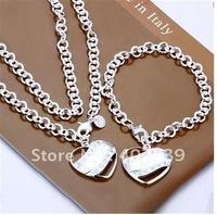 Wholsale 2014 new FASHION jewelry 925 Sterling Silver necklace bracelet set Penoyjewelry NS108