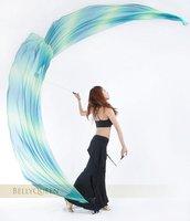 Belly Dance Veil Poi ,1 SET = 2 Veils + 2 Poi Chains
