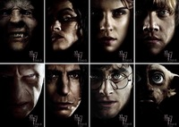 [Free Shipping]8PCS Postcard Harry Potter Deathly Hallows Part1 Daniel Radcliffe, Emma Watson 5# Wholesale & Retail