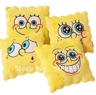 free shipping SpongeBob doll toy plush cushion SpongeBob pillow gift 30pcs/lot four expression hold pillow dolls toy