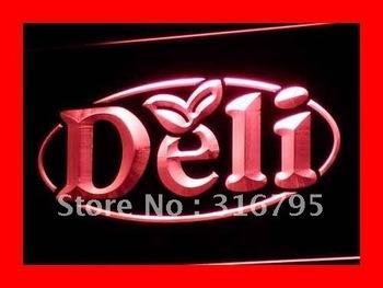 i077-r OPEN Deli Cafe Restaurant Logos Neon Light Signs