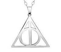 Female style Harry Potter and the Deathly Hallows 925 sterling silver Triangle pendnt Free Shipping