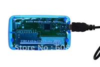 Blue ALL-IN-ONE USB 2.0 MEMORY CARD READER CF/MS/XD/SDHC/SD