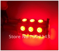 2 X BAY15D 1157 24 SMD 5050 12V LED Red Light Bulbs + Free Shipping