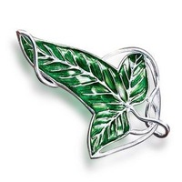 Lord of The Rings Elven Leaf Brooch with chain necklace Free Shipping Wholesale Dropshipping