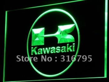 d135-g Kawasaki Racing Motorcylce Bar Neon Light Sign