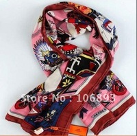 Guaranteed 100%hot selling! new fashion print  wool scarf silk  scarves cashmere Scarf (red), Free shipping
