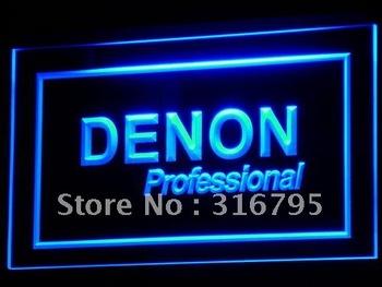 k037-b Denon Home Theater Audio NR Neon Light Sign